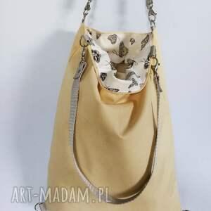 plecak plecaki beżowe plecako torebka cordura beżowa