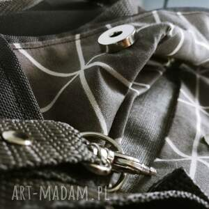 eleganckie plecaki plecak plecako torebka cordura grafitowa