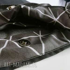 czarne plecaki torebka plecako cordura grafitowa