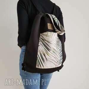 palmy plecakotorba 2w1 - czarnobeżowa