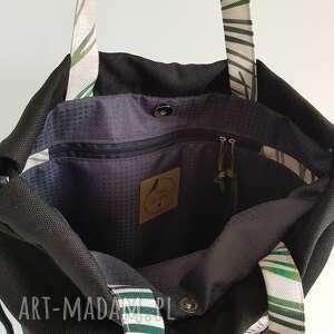 torba brązowe plecakotorba 2w1 - czarnobeżowa