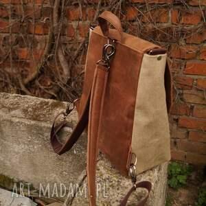 unisex plecak/teczka włóczykij orzechowa