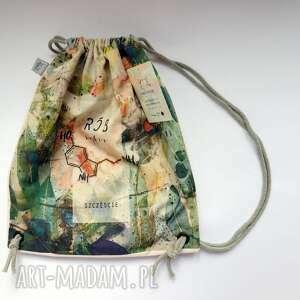 handmade na plażę rób sobie szczęście plecak / worek