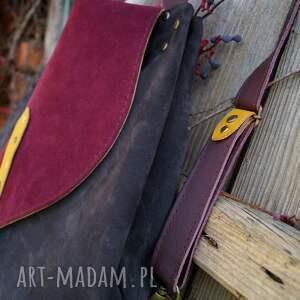 CZAJKACZAJKA Rogata Małgorzata listopadowy las plecako torba - skóra naturalna