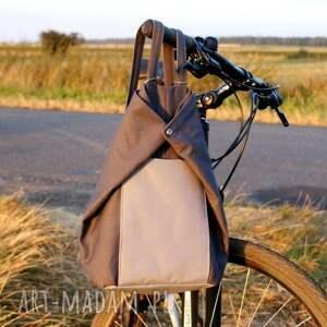 hand made plecak rowelove vegan szary