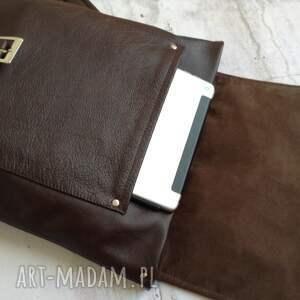 brązowe skórzany plecak