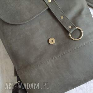 mini plecak skórzany