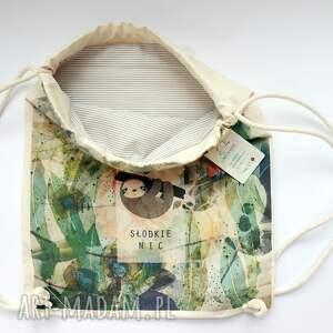 handmade eco słodkie nic plecak / worek torba