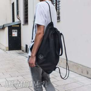 handmade worek męski torba czarny