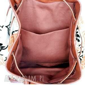 turystyczne brązowe 39 -0001 wielobarwny damski plecak
