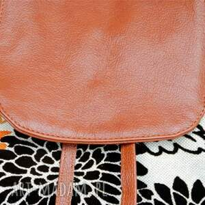 hand made skórzane 39 -0001 wielobarwny damski plecak