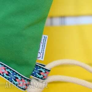 niepowtarzalne plecaki bawełna worek aztec natural zielony