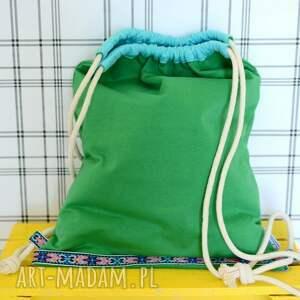 niepowtarzalne plecaki eko worek aztec natural zielony
