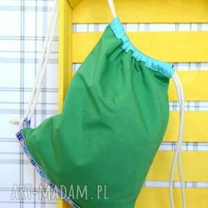 zielone plecaki bawełna worek aztec natural zielony