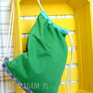 eko plecaki worek aztec natural zielony