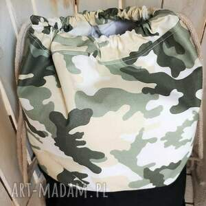 Worek plecak bawełniany moro - przedszkola