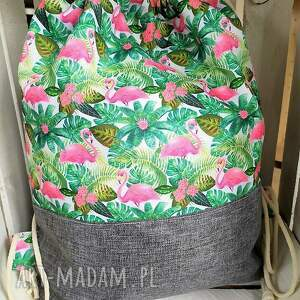 unikalne worek plecak flamingi