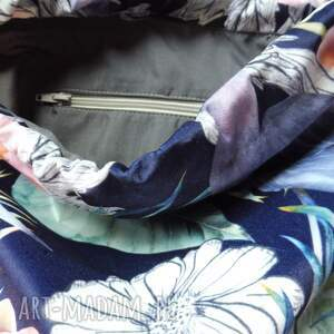 worek plecak welurowy czaple