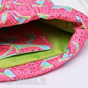 różowe worek plecak wodoodporny arbuzy