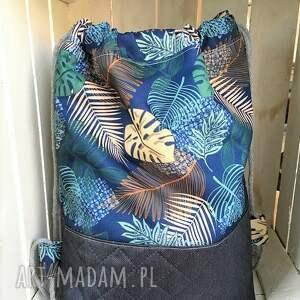 intrygujące worek plecak wodoodporny liście