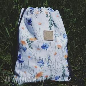 niekonwencjonalne worek plecak jeans bawełna w polne