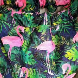 plecak worek flamingi na granacie