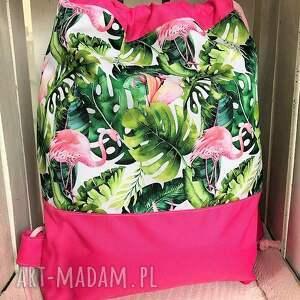 niekonwencjonalne worek plecak wodoodporny flamingi