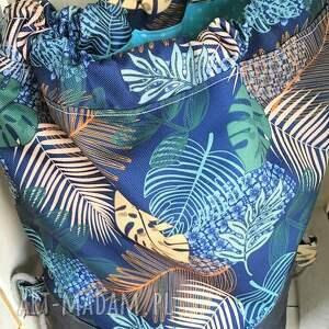 worek plecak wodoodporny liście