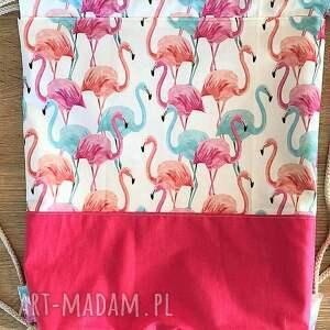 plecaki plecak worek flamingi