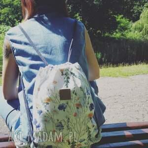 niekonwencjonalne jeans worek plecak bawełna w polne