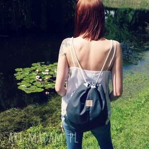 niebieskie plecaki plecak worek wodoodporny łabędzie