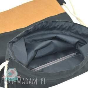 czarne plecaki worek worek- plecak washable paper