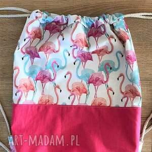 plecak plecaki worek flamingi