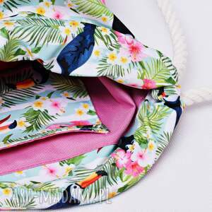 niepowtarzalne plecaki torba worek plecak wodoodporny tukany