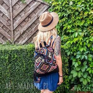 handmade plecak worko boho