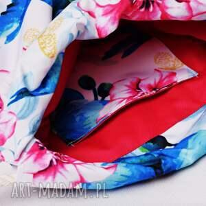 ciekawe worko plecak worek wodoodporny kolibry duże z różową