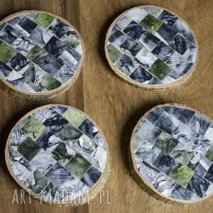 Nook Design Handmade Drewniane podkładki - Mozaika 2 naturalne