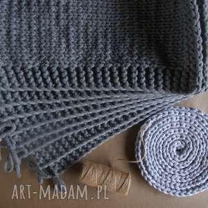 beżowe podkładki sznurek bawełniany komplet eleganckich podkładek ze