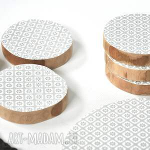 podkładki: podkładka pod kubek - scandi i - motyw drewniane