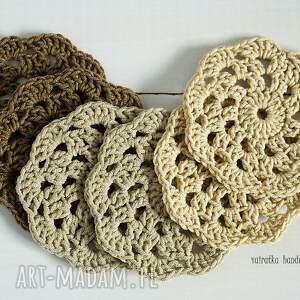 brązowe podkładki podkładki/serwetki bawełniane