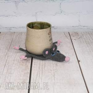 różowe podkładki kubek szczurek - podkładka pod