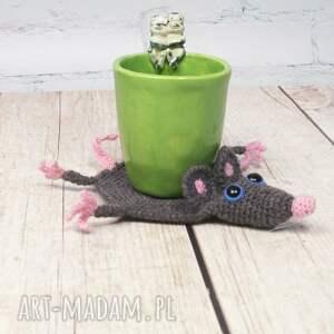 szczur podkładki szare szczurek - podkładka pod kubek