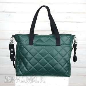 zielone podróżne torba elegancka do wózka pojemna