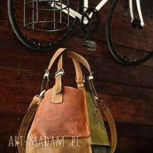 ręcznie robione podróżne torba do pracy piękna z naturalnej skóry