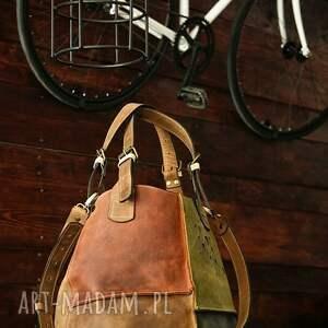 ręcznie robione podróżne torba do ręki piękna z naturalnej skóry