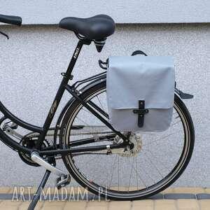 ręcznie zrobione podróżne torba sakwa rowerowa toskania jasno szara