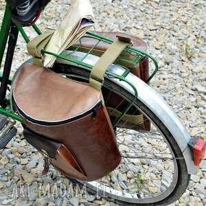 brązowe podróżne rower skórzane sakwy na odcienie