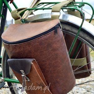podróżne rower skórzane sakwy na odcienie