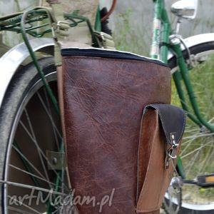 podróżne sakwy skórzane na rower odcienie