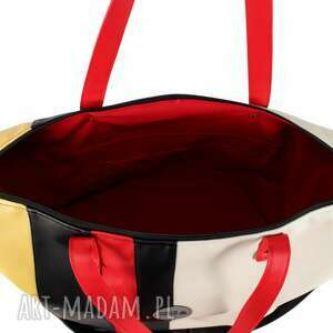 duża torba czerwone weekendowa podróżna w